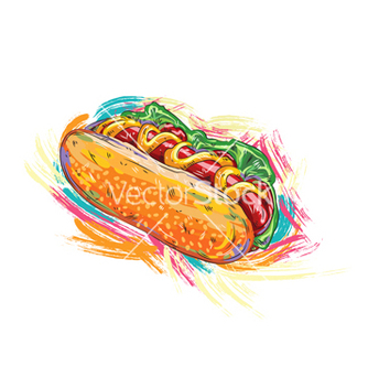 Free hot dog vector - vector gratuit #243201