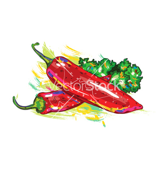 Free vegetables with grunge vector - Kostenloses vector #243321