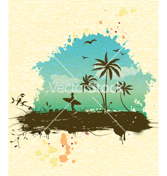 Free summer background vector - Free vector #243511