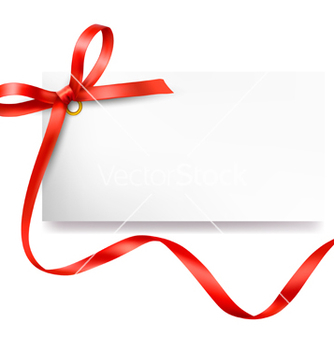 Free card with red bow and ribbon vector - Free vector #243711