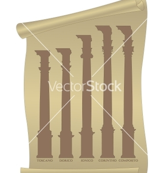 Free antique columns vector - Free vector #243761