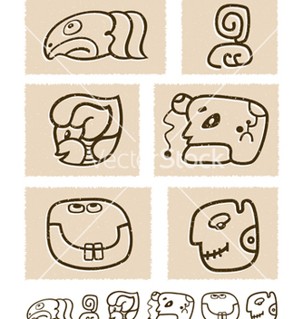 Free aztec style comic icon set vector - бесплатный vector #243841