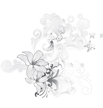 Free abstract floral vector - Kostenloses vector #243871