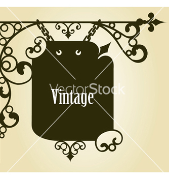 Free wrought iron sign vector - Free vector #243911