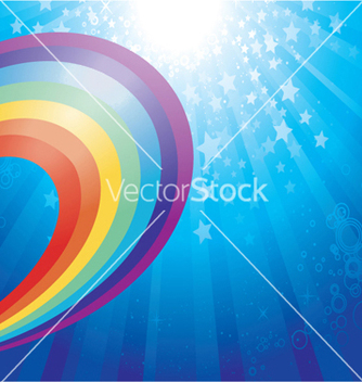 Free rainbow background vector - Free vector #244011
