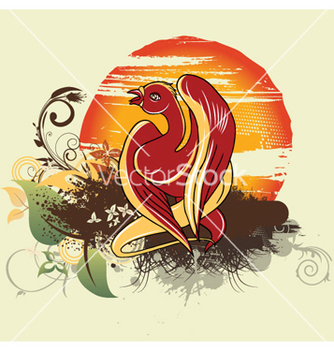 Free bird with grunge vector - Free vector #244081