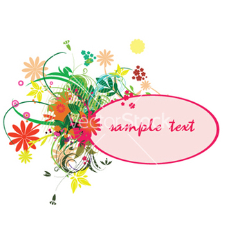 Free spring floral frame vector - Free vector #244131