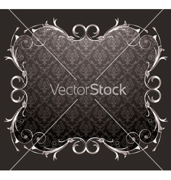 Free damask floral frame vector - Kostenloses vector #244551