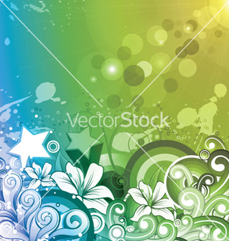 Free abstract floral background with rays vector - vector #244661 gratis