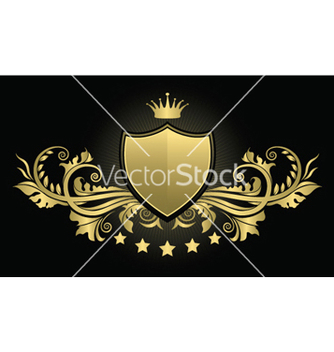 Free vintage emblem with shield vector - Free vector #244691