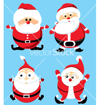 Free santa claus set vector - бесплатный vector #244771