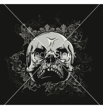 Free tshirt design with skull vector - бесплатный vector #244811