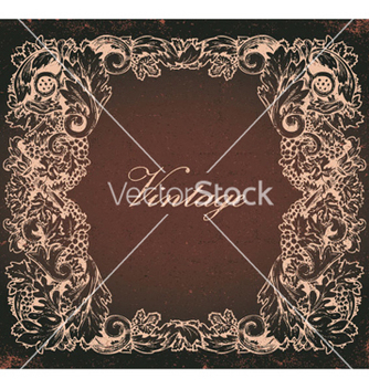 Free grunge baroque floral frame vector - vector gratuit #244821