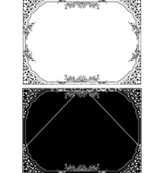 Free retro floral frame in different styles vector - vector #245091 gratis
