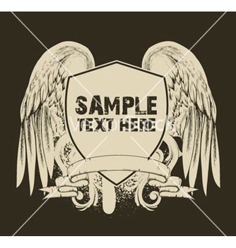 Free grunge tshirt design with shield vector - Kostenloses vector #245181