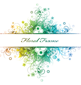 Free floral frame vector - Free vector #245211