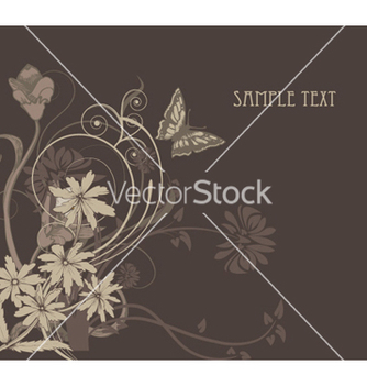 Free vintage background with floral vector - Kostenloses vector #245321