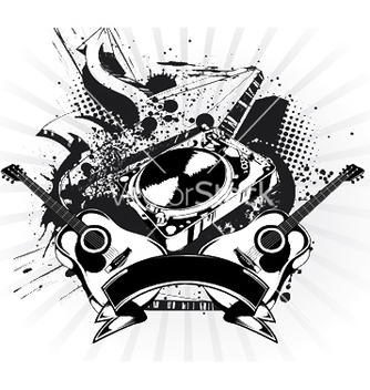 Free music emblem vector - Free vector #245351
