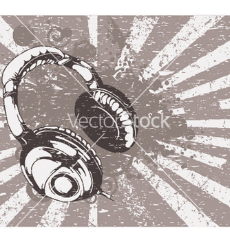 Free concert wallpaper with headphones vector - Free vector #245371