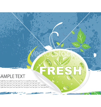 Free bio sticker with floral vector - vector gratuit #245401