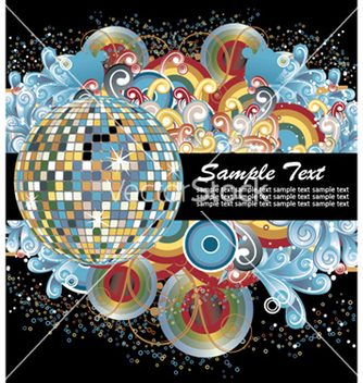 Free discoball with circles vector - бесплатный vector #245441