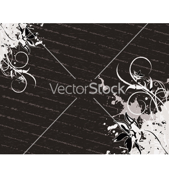 Free floral with grunge vector - vector #245451 gratis
