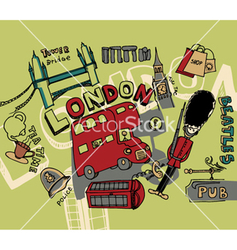 Free london doodles vector - vector gratuit #245671