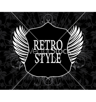 Free retro label with shield vector - Kostenloses vector #246181