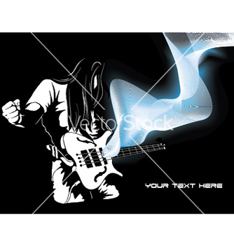 Free man with guitar and wave vector - Free vector #246341