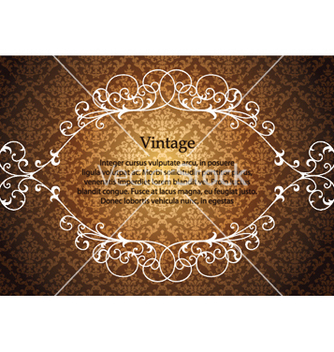 Free vintage floral frame with damask background vector - Free vector #246471
