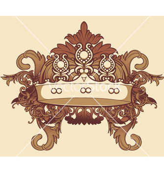 Free vintage floral with crown vector - vector #246661 gratis