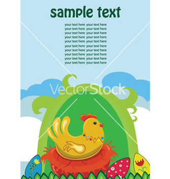 Free easter background with hen vector - Kostenloses vector #246701
