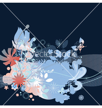 Free retro floral background vector - Free vector #246771