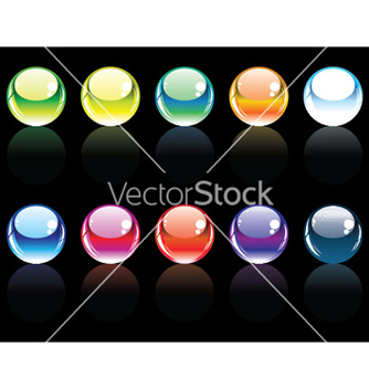Free glossy buttons set vector - Free vector #246791