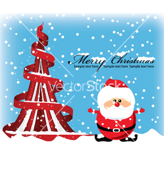Free christmas greeting card vector - Kostenloses vector #246971