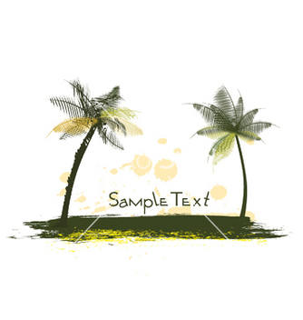 Free summer with palm trees vector - Free vector #246991