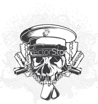 Free skull with floral vector - Free vector #247061