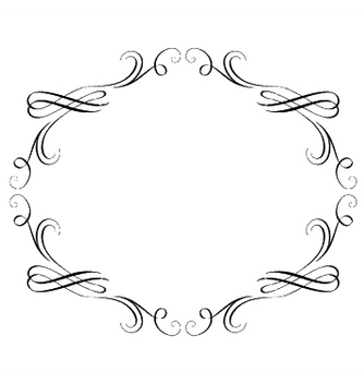 Free vintage calligraphic frame vector - Kostenloses vector #247101