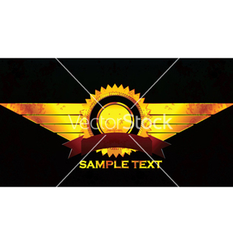 Free gold grunge label with wings vector - vector #247111 gratis