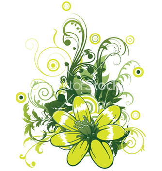 Free abstract flower with circles vector - vector #247141 gratis