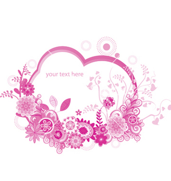 Free floral frame vector - Free vector #247361