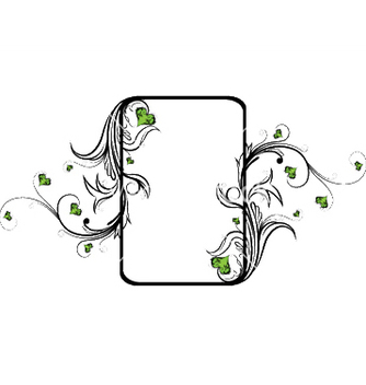 Free vintage floral frame with hearts vector - Free vector #247371