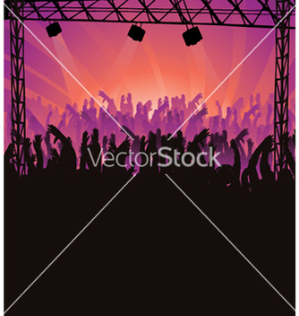 Free concert poster with crowd vector - бесплатный vector #247451