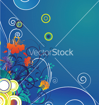 Free popart floral background with circles vector - Kostenloses vector #247561