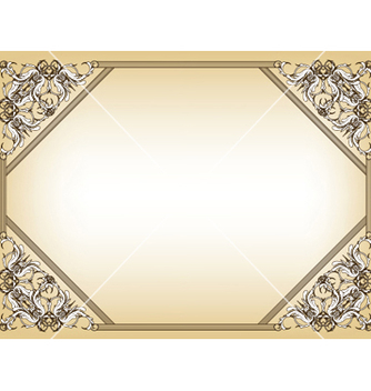 Free baroque floral frame vector - Free vector #247571