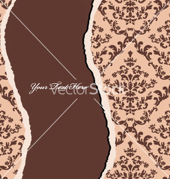 Free torn damask wallpaper vector - Free vector #247591