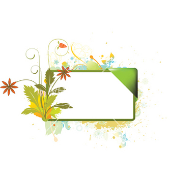 Free watercolor floral frame vector - бесплатный vector #247611