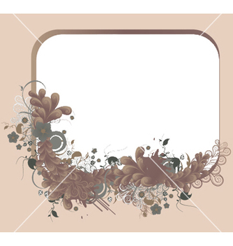 Free abstract floral frame vector - Kostenloses vector #247691