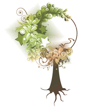 Free abstract tree vector - Free vector #247841