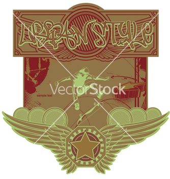 Free urban label vector - Free vector #247891